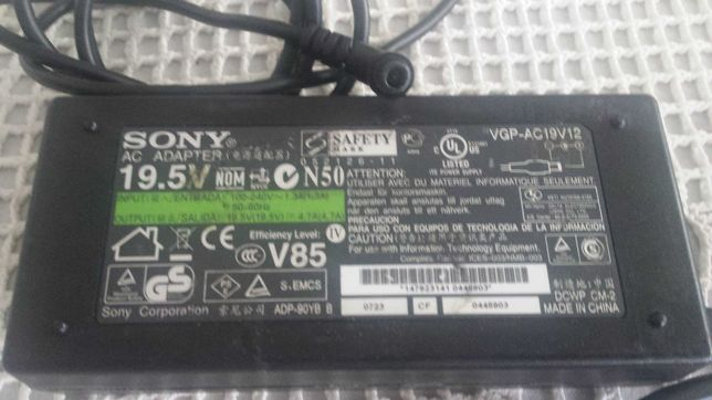 Carregador adaptador Sony 19.5V