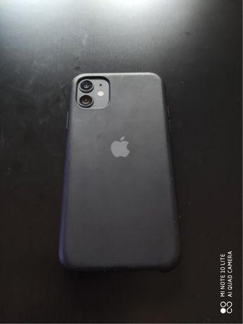 Capa para iphone 11 preta com logo