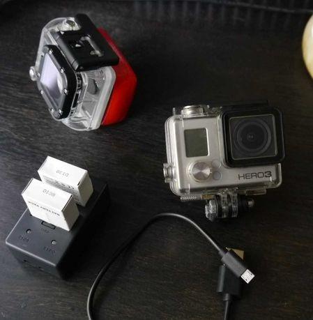 GoPro Hero 3 Black, 3 baterie, Half Dome, Pilot, Ładowarka