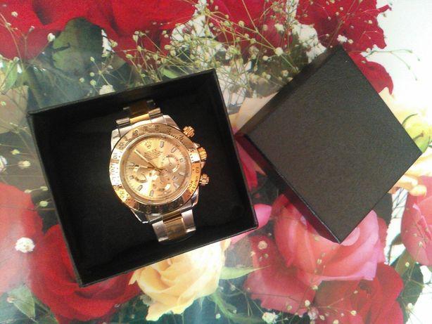 Подарунок Годинник чоловічий Rolex + коробка (часы мужские)