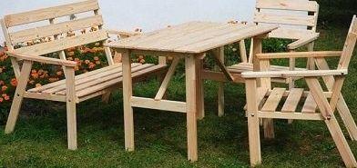 Reston meble ogrodowe drewniane stół ławka krzesła