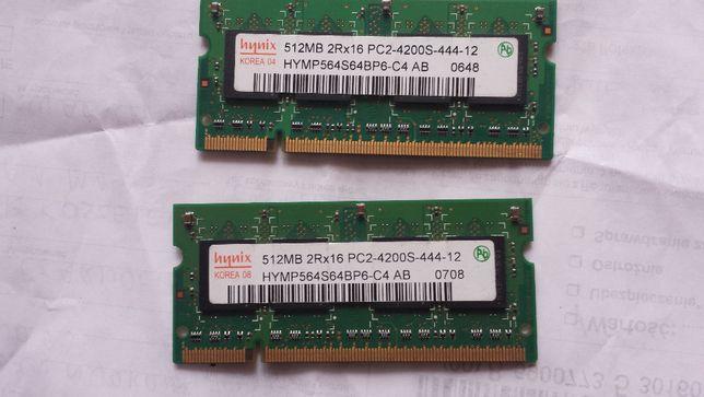 Pamięć Ram DDR2 Hynix 2x 512mb