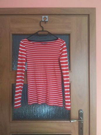 Bluzka koszulka z długim rękawem, bawełniana rozmiar 36-38 S-M