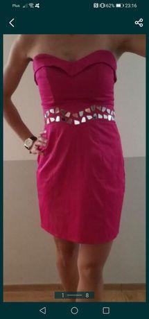 Sukienka Różowa 38 M wesele j Nowa