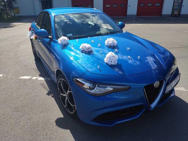 Auto Samochód do Ślubu / Alfa Romeo Giulia Blu Misano / Wyróżnij się!