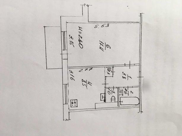 Реальная 1к.квартира на Леваде 35м.кв. средний этаж.