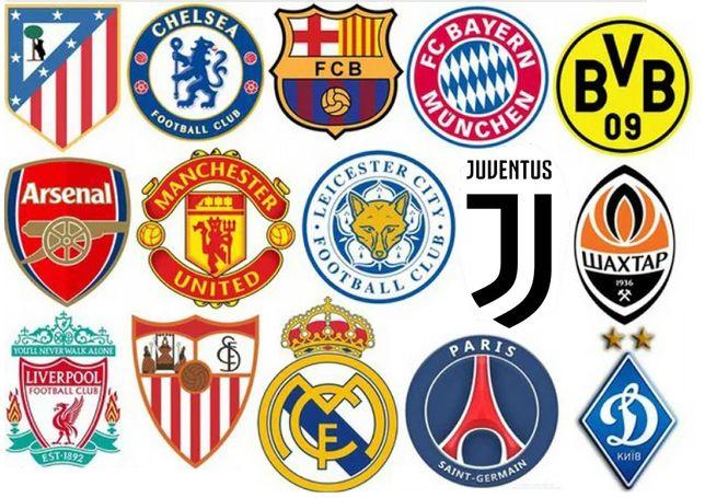 Футбол. Наклейки команд и столиц на карту Европы 60х80см