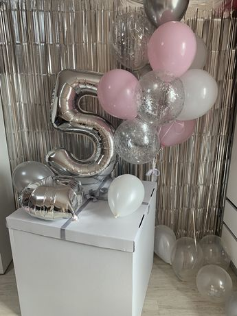 Шарики в коробке,фотозона,декор на день рождения