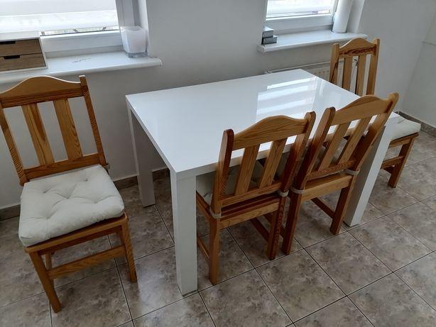 Stół 80x120 4krzesla sosnowe 560 zł