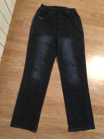 Jeansy męskie ze ściągaczem w pasie