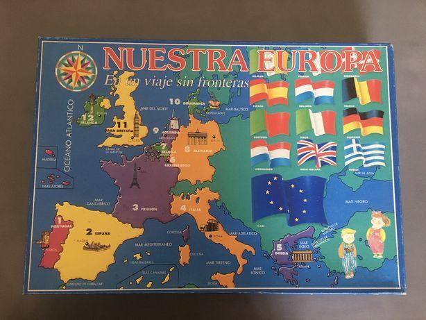 Jogo de tabuleiro Nuestra Europa