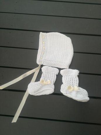 Czapeczka i buciki rozmiar 7-9 miesięcy KappAhl