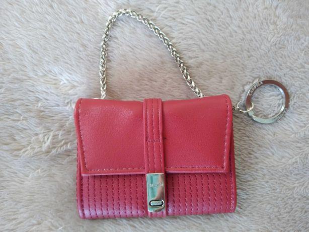 portfel, CARPISA, portmonetka, nowa, czerwona, skora