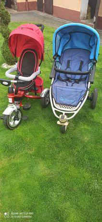 Wozek Quinny oraz rowerek trójkołowy Rbaby