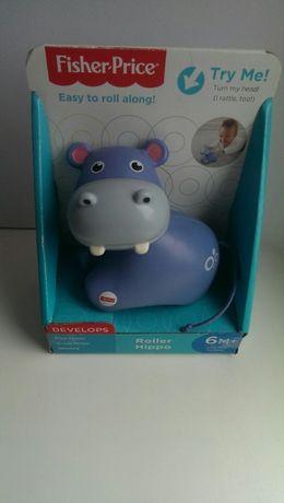 Fisher-Price развивающая игрушка роллер Бегемот каталка Roller Hippo