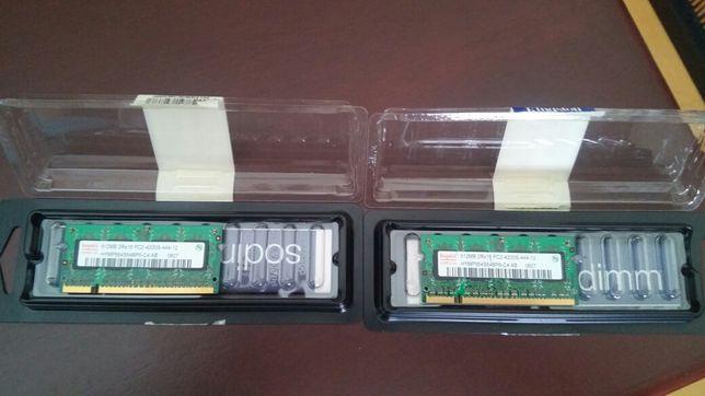 Memória RAM 2x 512mb 2R 16 PC2 4200S -troca