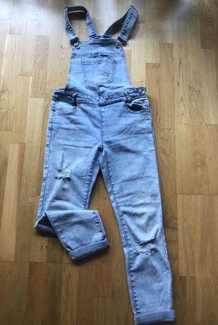 Świetne jeansowe ogrodniczki Reserved rozm 36 S jak nowe