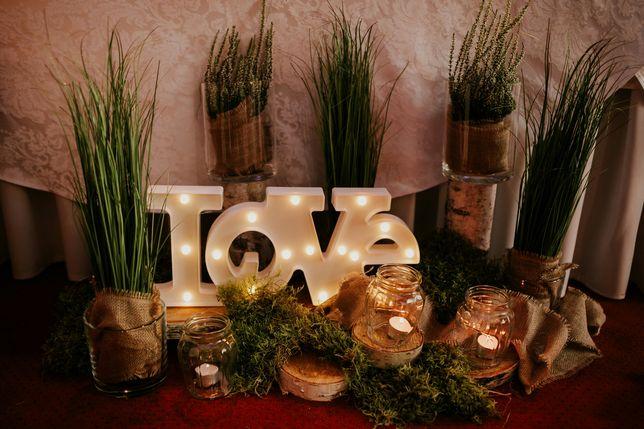 Napis ledowy LOVE dekoracyjny , wesele, sesja