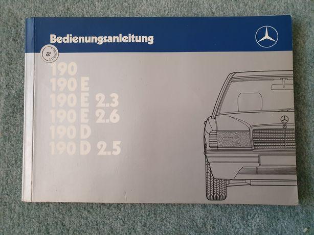 Mercedes-Benz W201 190 oryginalna instrukcja obsługi 190E i 190D