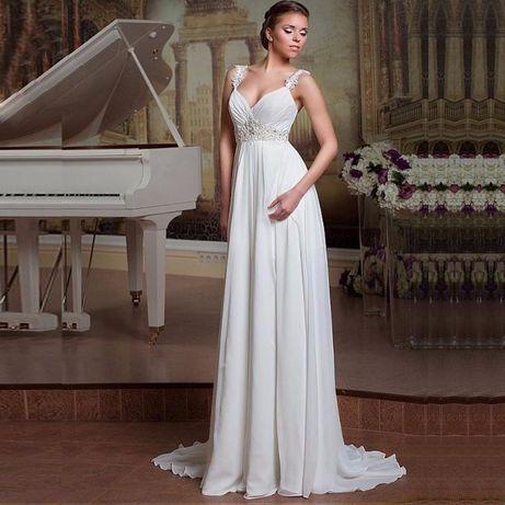 suknia ślubna wiązana wesele cywilny 40, 42, 44, 46