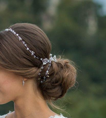 Ozdoba ślubna do włosów, 120 cm