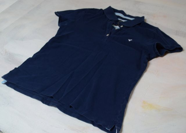 koszulka polo american eagle tenis M granat sport