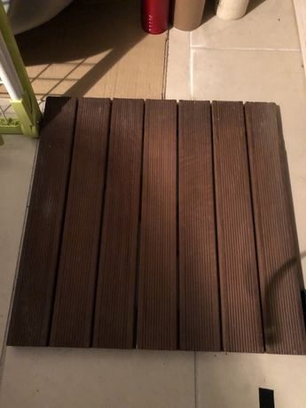 Deck madeira tratada 50 cm x 50 cm