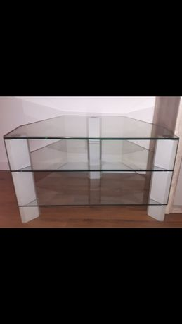 Stolik pod telewizor - szklany