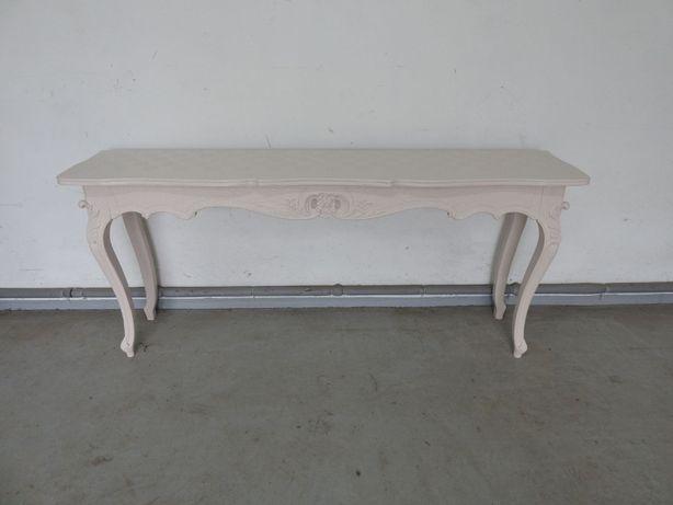 Biała zdobiona konsolka ludwikowska 170cm 945