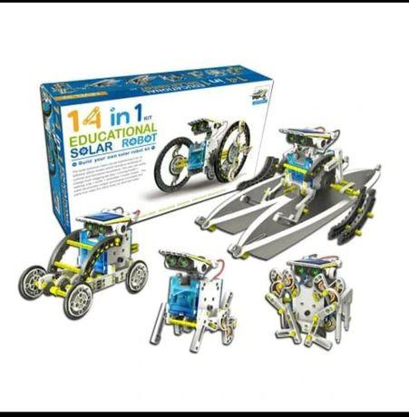 Робот конструктор Solar Robot с моторчиком на солнечной батарее 14в1