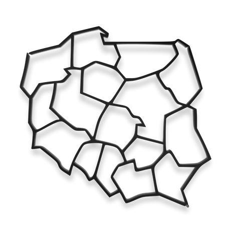 Metalowa dekoracja ścienna ażurowa Mapa Polski