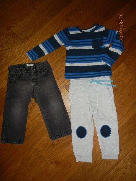 Ubrania dla chłopca rozm.86 spodnie body bluzki koszulki