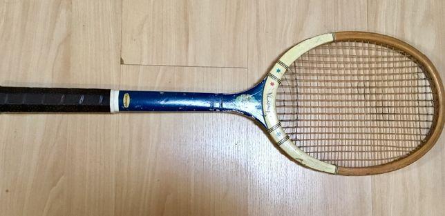 Raquete de ténis antiga Slazenger