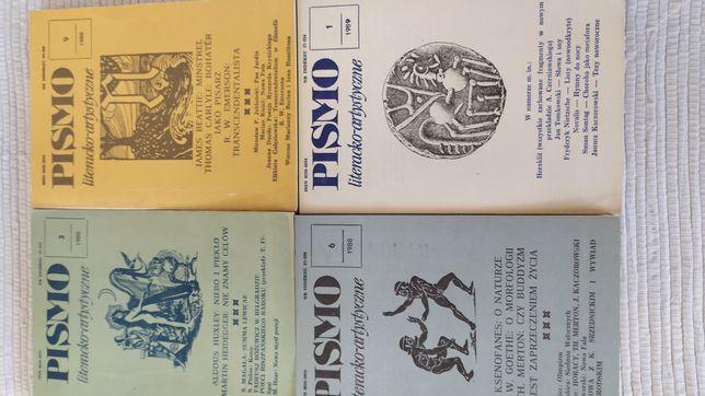 Pismo literacko artystyczne 3/1988, 6/1988, 9/1988, 1/1989