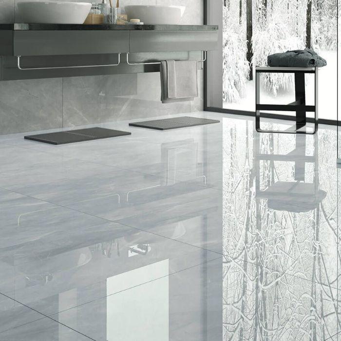 Płytki gresowe podłogowe łazienkowe kuchenne Pulpis Grey poler 60x60 Lublin - image 1