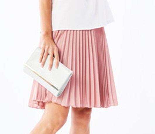 Modna Plisowana Spódnica Spódniczka roz. 36 S Mohito Pudrowy róż