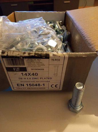 Śruby 14x40 , 14x50 z nakredkami I podkladkami