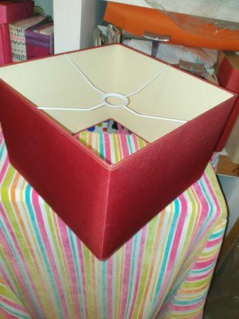 Abajur adaptavel a teto e candeiro de mesa em seda