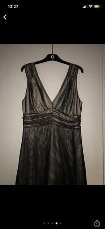 Czarna sukienka M tiulowa elegancka
