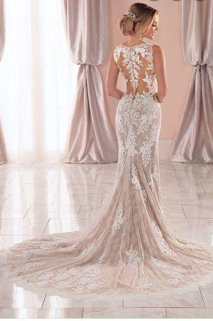 Śmietankowa suknia ślubna XS/S