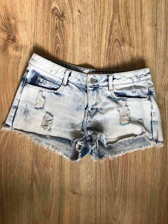 Jeansowe dżinsowe spodenki szorty rozmiar 36 S