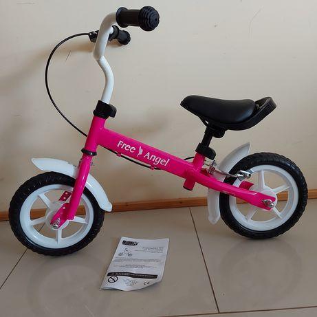 Nowy rowerek biegowy hamulec rower balansowy dla dzieci różowy