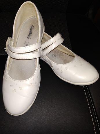 Белые праздничные нарядные туфли фирмы Conway 32 р 20.5 см