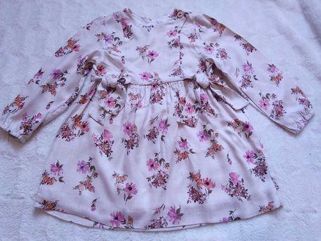 Платье в цветочек новое Zara размер указан 2-3г