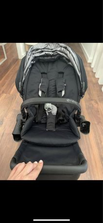 Cybex Priam matt black 2019 com cadeira de passeio 2020