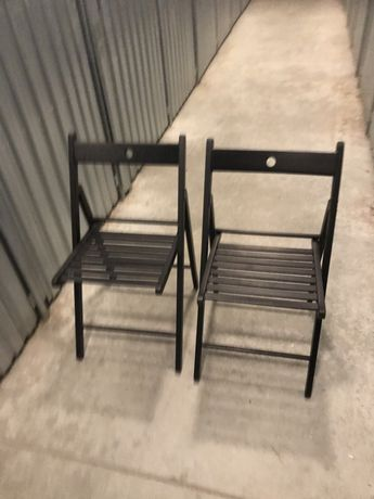 Krzesła czarne Terje Ikea - 2 sztuki jak nowe