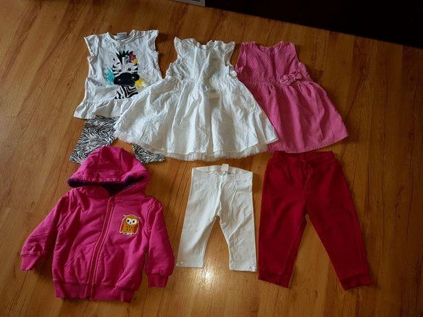 Ubranka dla dziewczynki 86 h&m