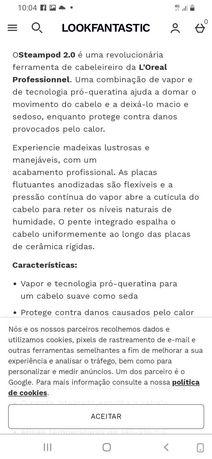 Prancha profissional steampod 2.0 da L'Oréal
