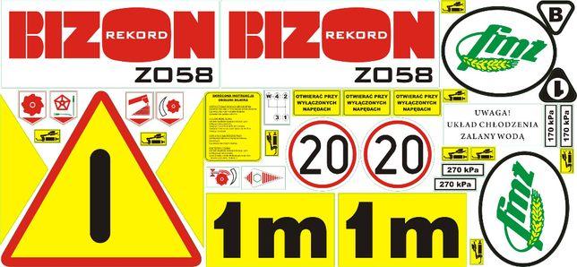 Naklejki Bizon Z058 ZO58 Rekord oryginał od producenta