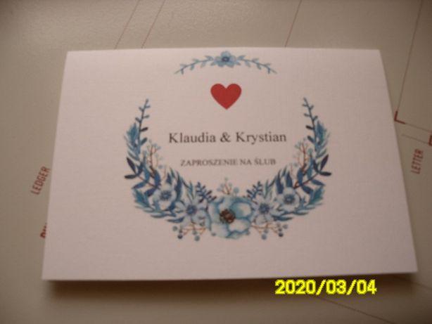 Zaproszenia ślubne personalizowane
